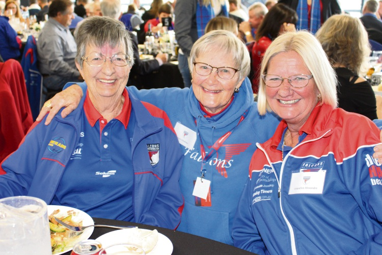 Kathleen Tompsitt, Pam Ashdown and Jacqui Alexandre are supporting West Perth in its hour of need. Picture: J Bianchini