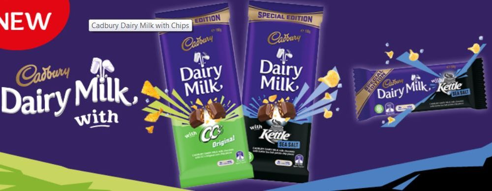Cadbury is putting chips in chocolate.