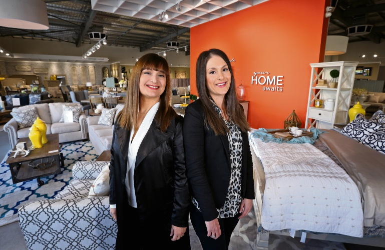 Sophie Langa and Chrissy Palmer have opened Ashley Furniture Homestore. Picture: David Baylis