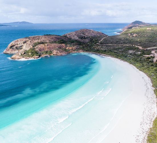 Lucky Bay in Esperance. Picture: Jono Geldart/UpSkyHigh