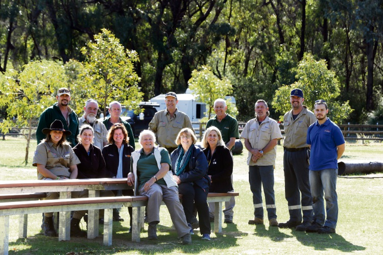 Yanchep National Park staff and volunteers received praise for upgrades to the campground. Pictures: Martin Kennealey d485743