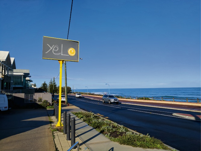 Yelo cafe in Trigg.