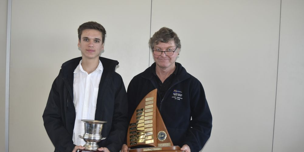 Bryce Taylor and Bart Brouwer with their awards.