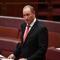 Katter's Australian Party Senator Fraser Anning. Photo: AAP