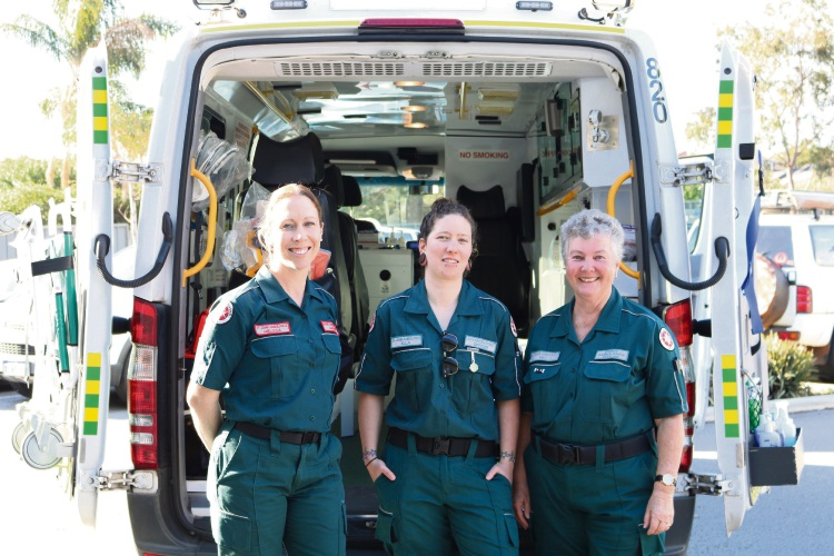 St John Ambulance event operations manager Mel Rorke, Ella Munro and volunteer development officer Niki Gibson.