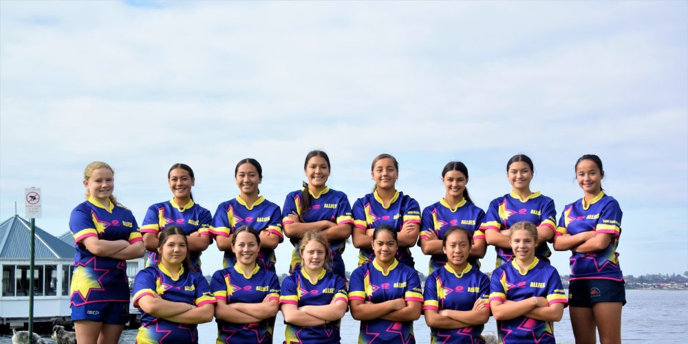 The Nedlands and Allies girls are on their way over east to take on the Sydney City 7's Junior Girls Tournament. Picture: Supplied.