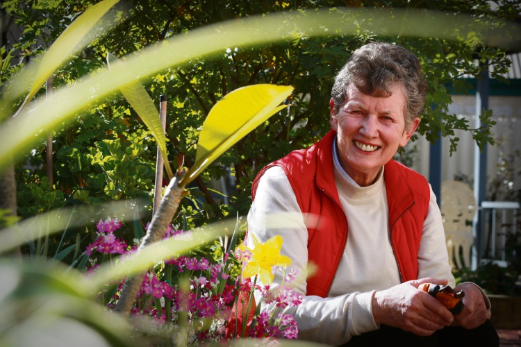 Alfred Cove resident Elizabeth MacColl is opening up her garden to the public. Picture: Andrew Ritchie