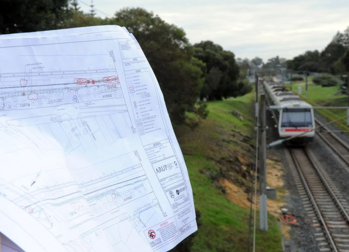 Plans indicate the narrow section of reserve north of the Eric Street bridge could bear the brunt of the tree felling to get the PSP through Cottesloe and on to Fremantle.