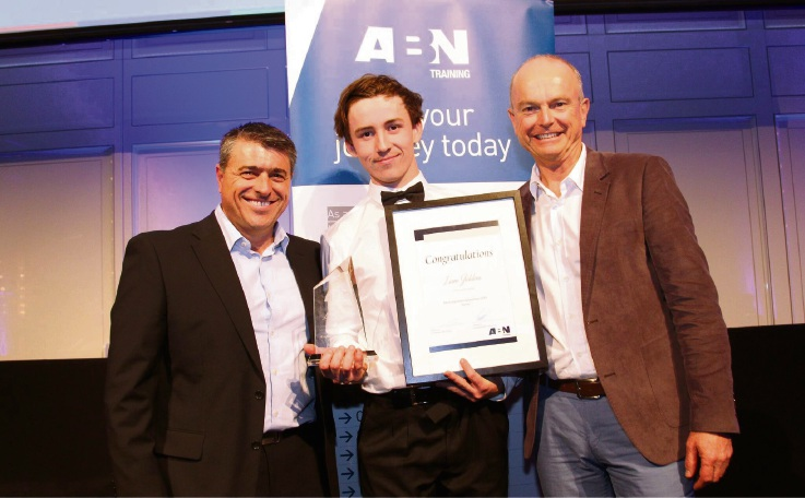 GTO manager of the ABN Group Loris Moriconi, Liam Giddens and Dale Alcock.