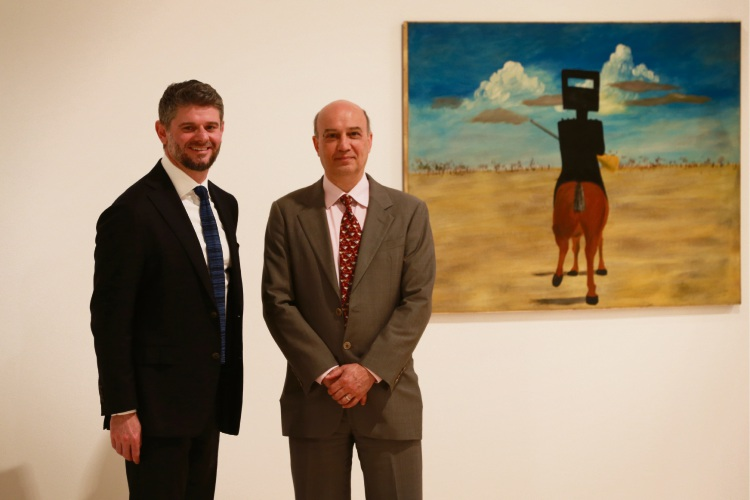 NGA director Nick Mitzevich and AGWA director Stefano Carboni.