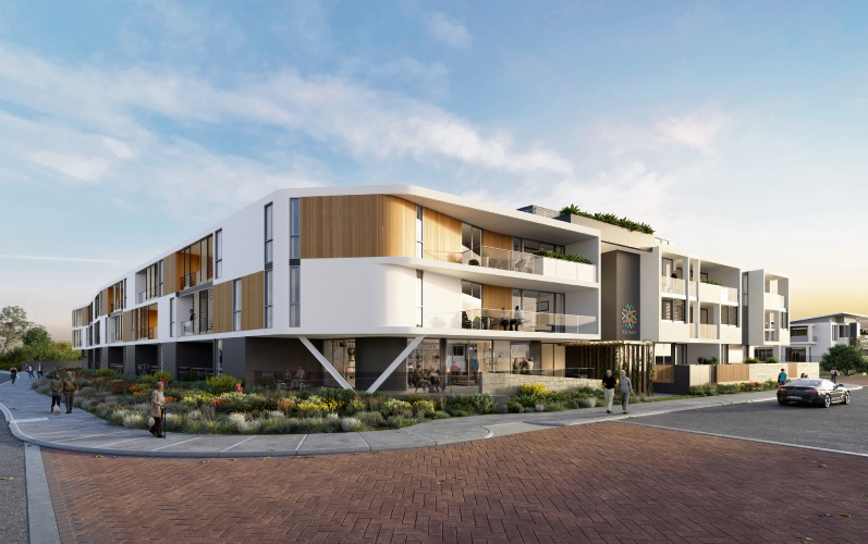 An artist's impression of the Odyssey Residences at Beaumaris Beach.