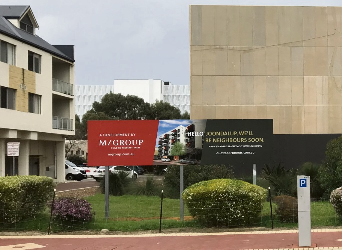 Construction of the Quest Apartment Hotel in Joondalup is imminent.