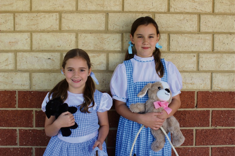 Year One student Bonnie Cunningham, left, and Year Four student Skye Softley. Picture: Victoria Rifici.