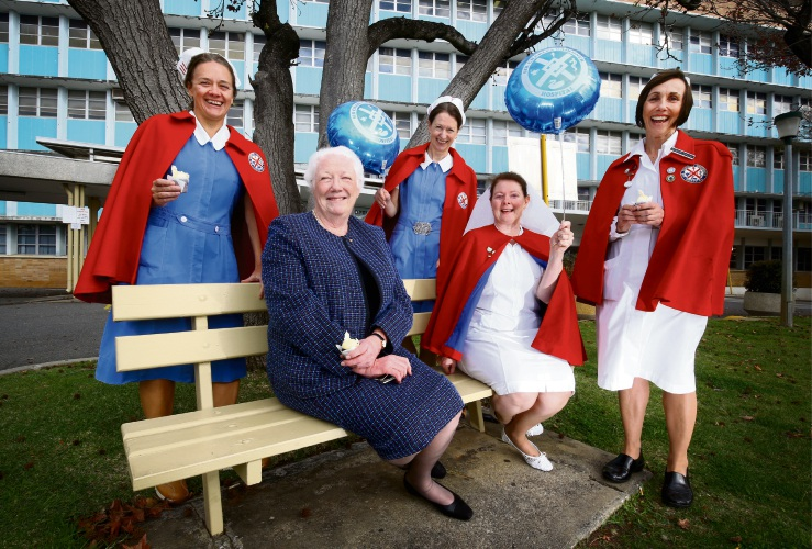 Nurse Sue Morey, who has been working at SCGH for 46 years, with colleagues Linne Cowperthwaite, Helen Cadwallader, Marie Slater and Sue Davis. Picture: Matt Jelonek