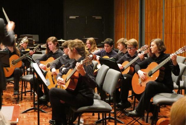Eastern Hills Senior High School Classical Guitar Ensemble.