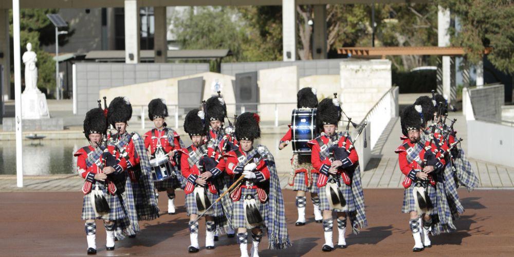 The WA Police Pipe Band.