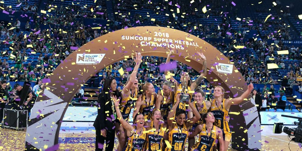 Lightning beat Fever in today's Super Netball grand final. Picture: Andrew Ritchie