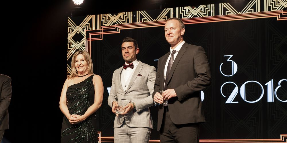 reiwa.com award winners ((L-R) Abel McGrath's Michelle Kerr, Realty Lane's Daniel Gonzalez and Jay Standley from Team Standley, Barr & Standley.