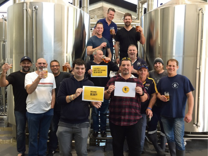 The dads of Kids Cancer Support group along with brewers collaborated to make the special edition brew.