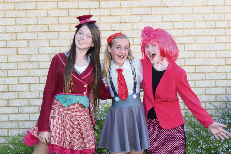 Year 6 students Tamsyn, Sharni and Grace.