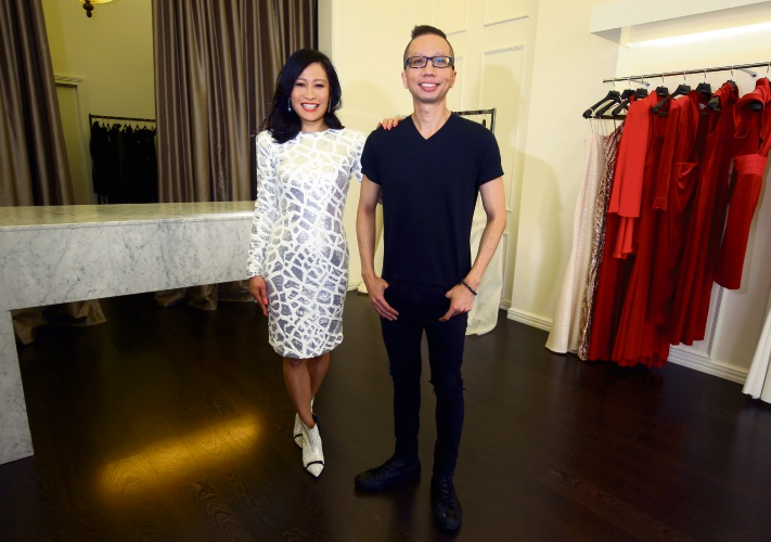 Perth real estate agent Vivien Yap with designer Alvin Fernandez.
