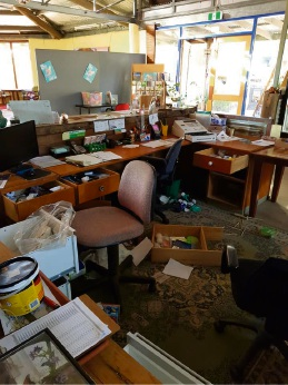The Naragebup Rockingham Regional Environment Centre was ransacked.