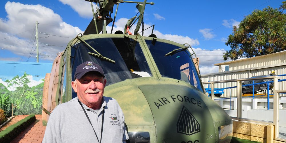 Peter Tickner has enjoyed becoming a volunteer guide at the Aviation Heritage Museum.