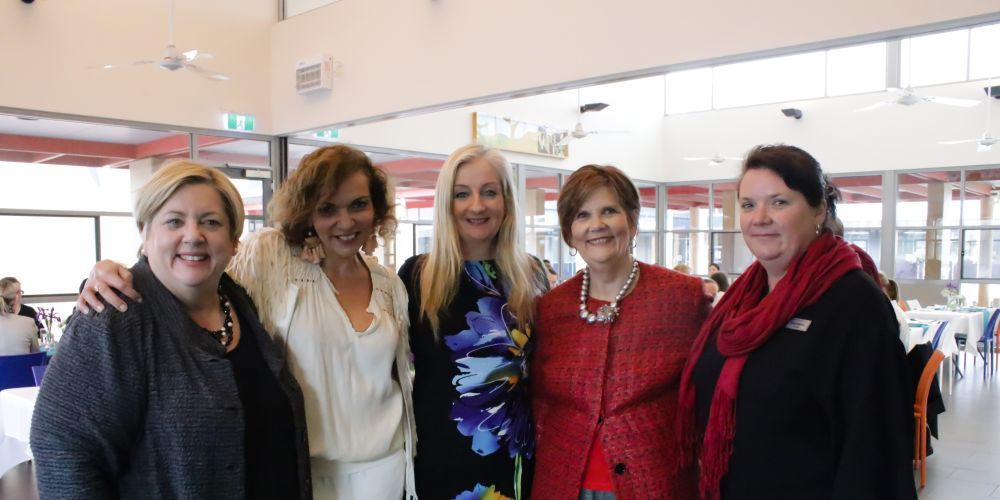 Girrawheen MLA Margaret Quirk, Cowan MHR Anne Aly, Wanneroo Mayor Tracey Roberts, North Metropolitan MLC Liz Behjat and Ashdale Secondary College principal Kylie Bottcher.