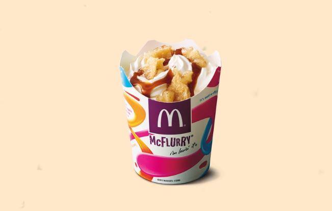 Perth Uber Eats customers can exclusively preview the new apple pie McFlurry