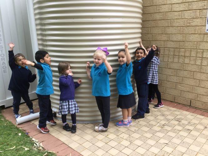 Mindarie Primary School used a Bankwest grant to help fund a water tank.