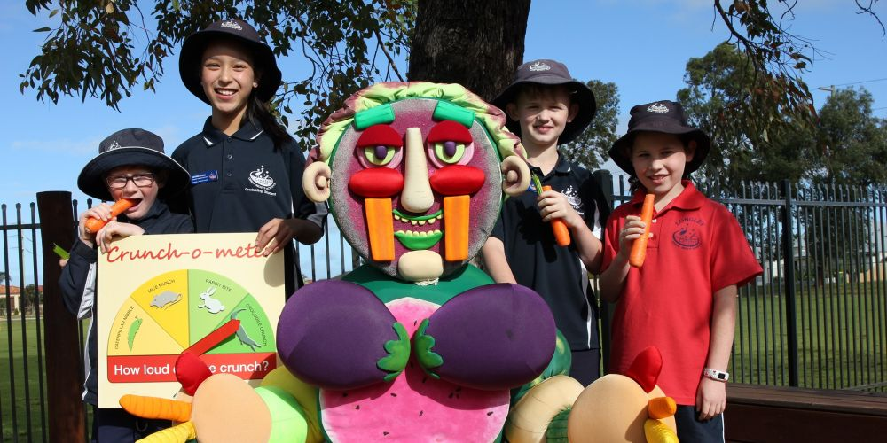 Campbell Primary School's Jordan Beggs, Zafirah Lerno, Dylan King and Lucy Gurr.