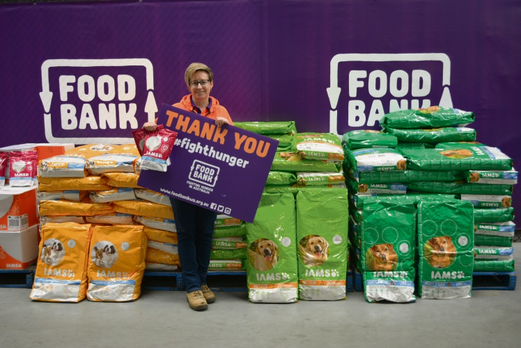 Foodbank WA warehouse assistant Fiona Strydom.