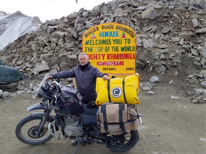 John Nye at Karma Dupgyud Choeling Monastery in Leh Ladakh.