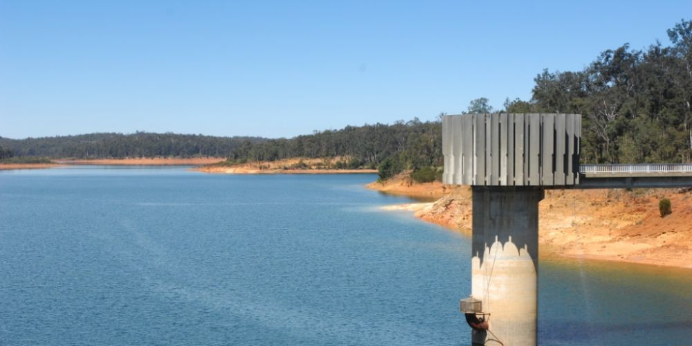 South Dandalup dam. Picture: Water Corporation.