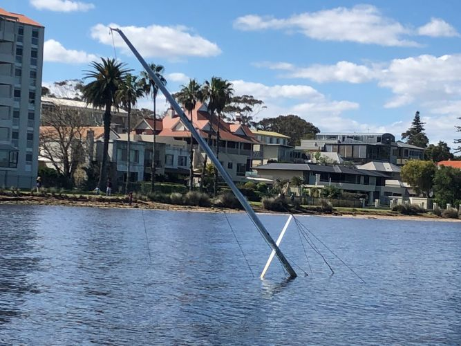 Claremont: Mystery yacht sinks in Swan River