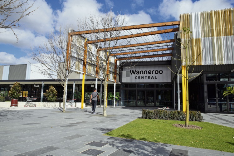 The newly-developed Wanneroo Central shopping centre. Picture: Martin Kennealey.