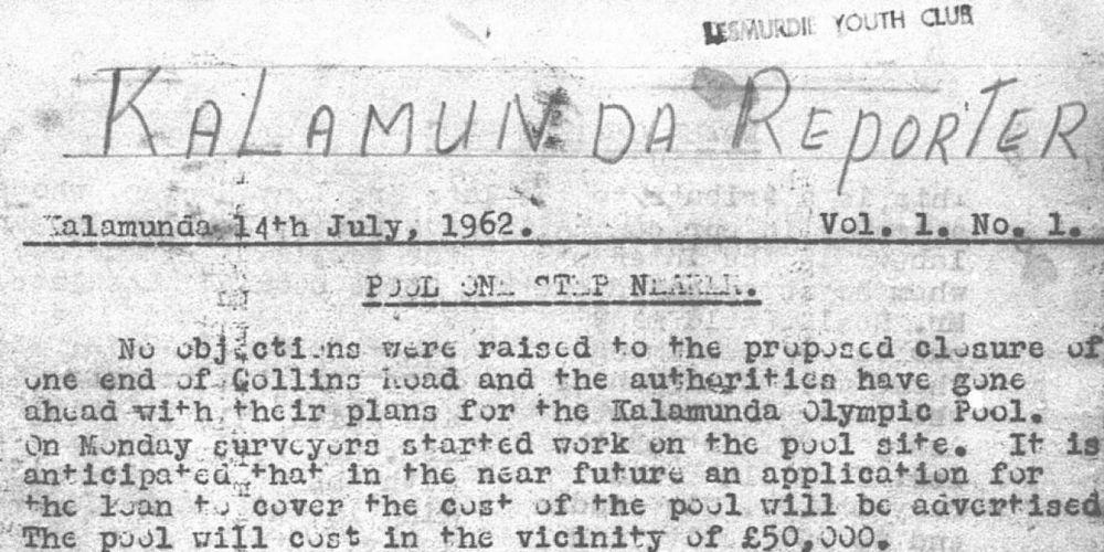 The first ever Kalamunda Reporter.