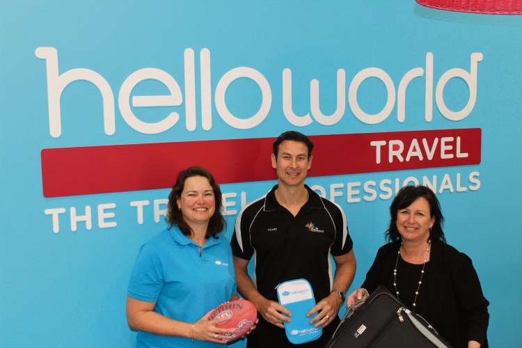 Helloworld Travel owner Keeley Morehead, 4 Life Physiotherapy principal Grant Pattison and Mandurah Coastal Times director Emma Pratten.