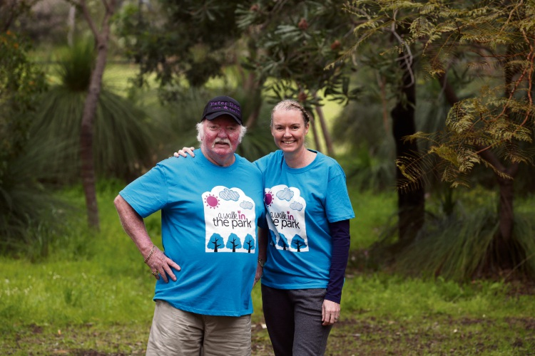Warwick Senior High School teacher Belinda Hall and her father Peter Dee. Picture: Andrew Ritchie.