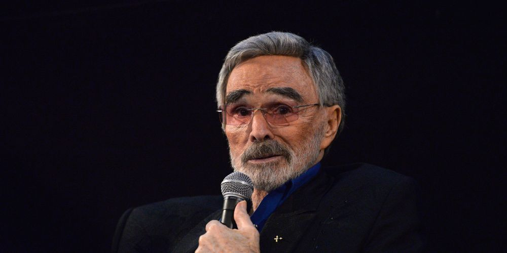 HOLLYWOOD, CA - MARCH 22:  Actor Burt Reynolds speaks during a Q&A session at the Los Angeles premiere of