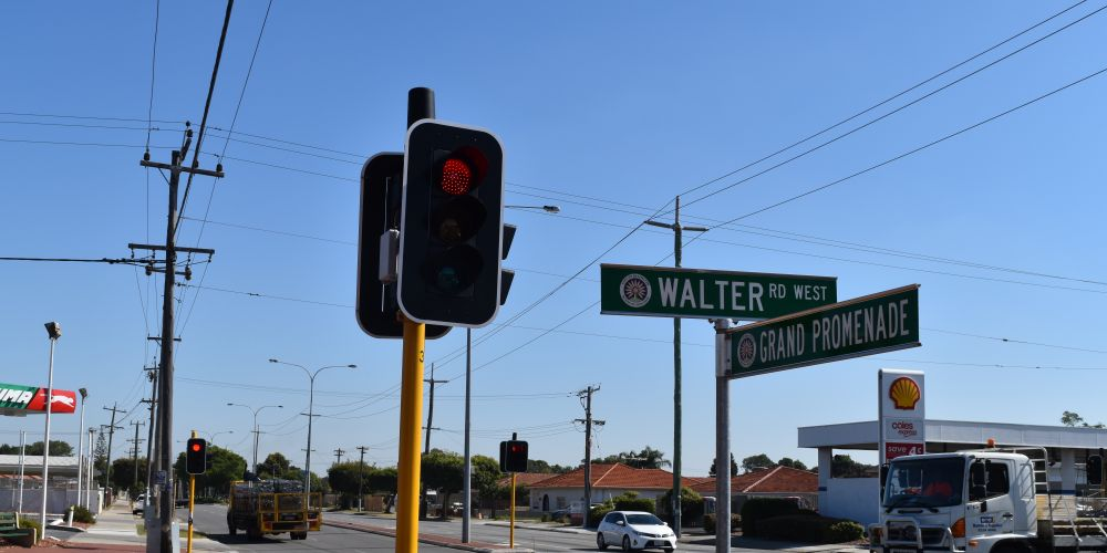 The Walter Road West and Grand Promenade intersection in Bedford.