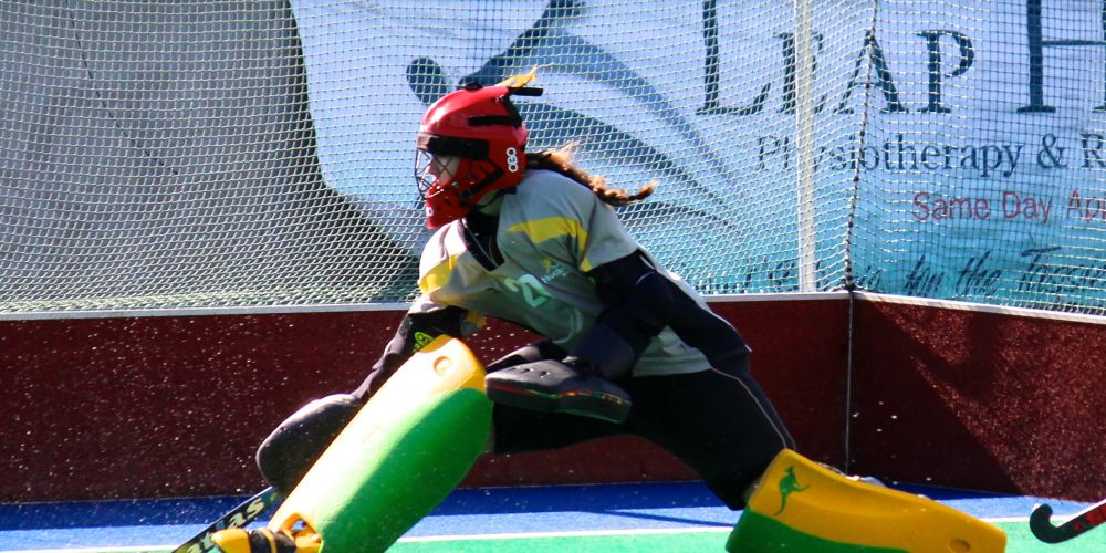 Caitlin Cooper in action at the under-18 national championships.