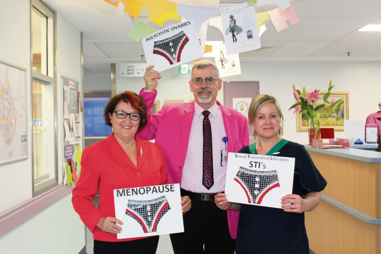 Gynaecological Awareness Information Network founder Kath Mazzella, Women and Newborn Health Service Acting Executive Director of Graeme Boardley and Clinical Nurse consultant Victoria Farrell.