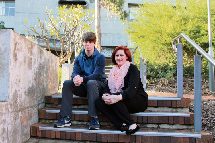 Christopher and Cindy van der Walt at Curtin University.