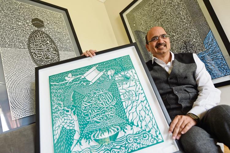 Parmelia artist Tusif Ahmad.
