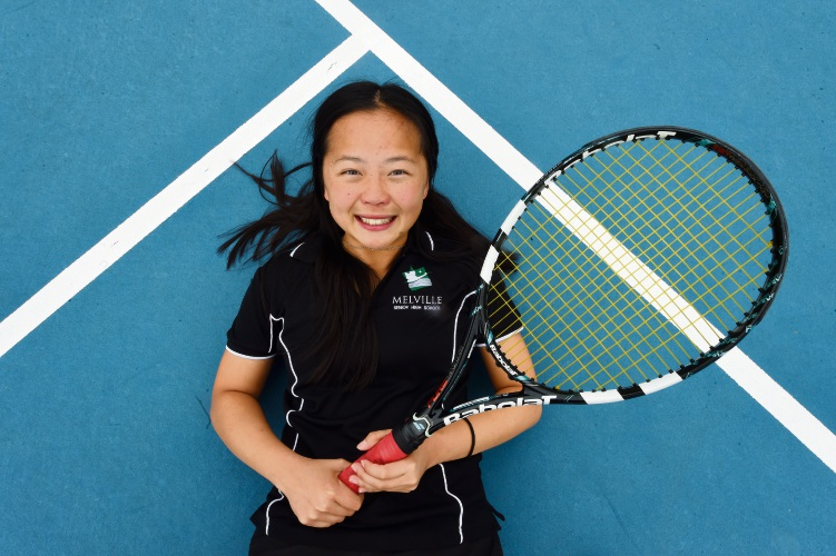 Melville Senior High School student Jamie Lau has been recognised with an award for her sportsmanship. Picture: Jon Hewson.