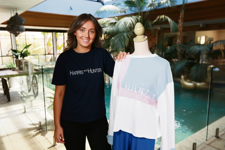 City Beach resident Tahnee Harris has created an activewear label and is set to launch her brand Hunter and Harris in October. Photo: Andrew Ritchie