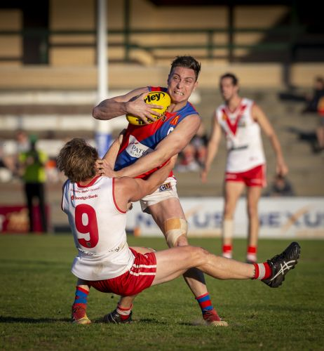 The Bulldogs thrashed the Falcons when they last met, in the qualifying final. Picture: Dan White