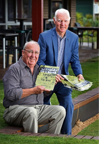 L-R: Bob Corby (Author of The Kids in the Hood) and Geoff Trott (One of the kids in the hood and a close friend of Bob's). Photo: David Baylis