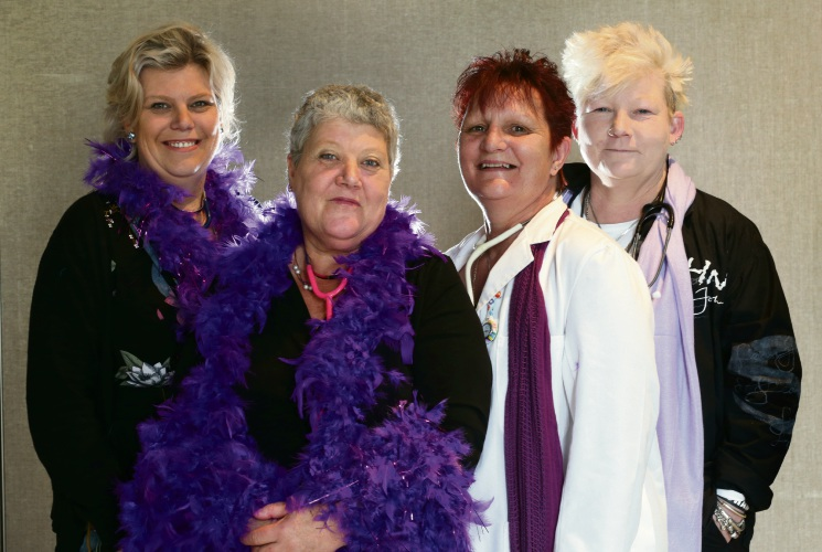 Nat Reid, left, her mother Louise Marsh, Nat Jordayne and Deb Pogmore are holding a breast cancer fundraiser called Breast Power at Joondalup Resort on Saturday. Picture: Martin Kennealey.